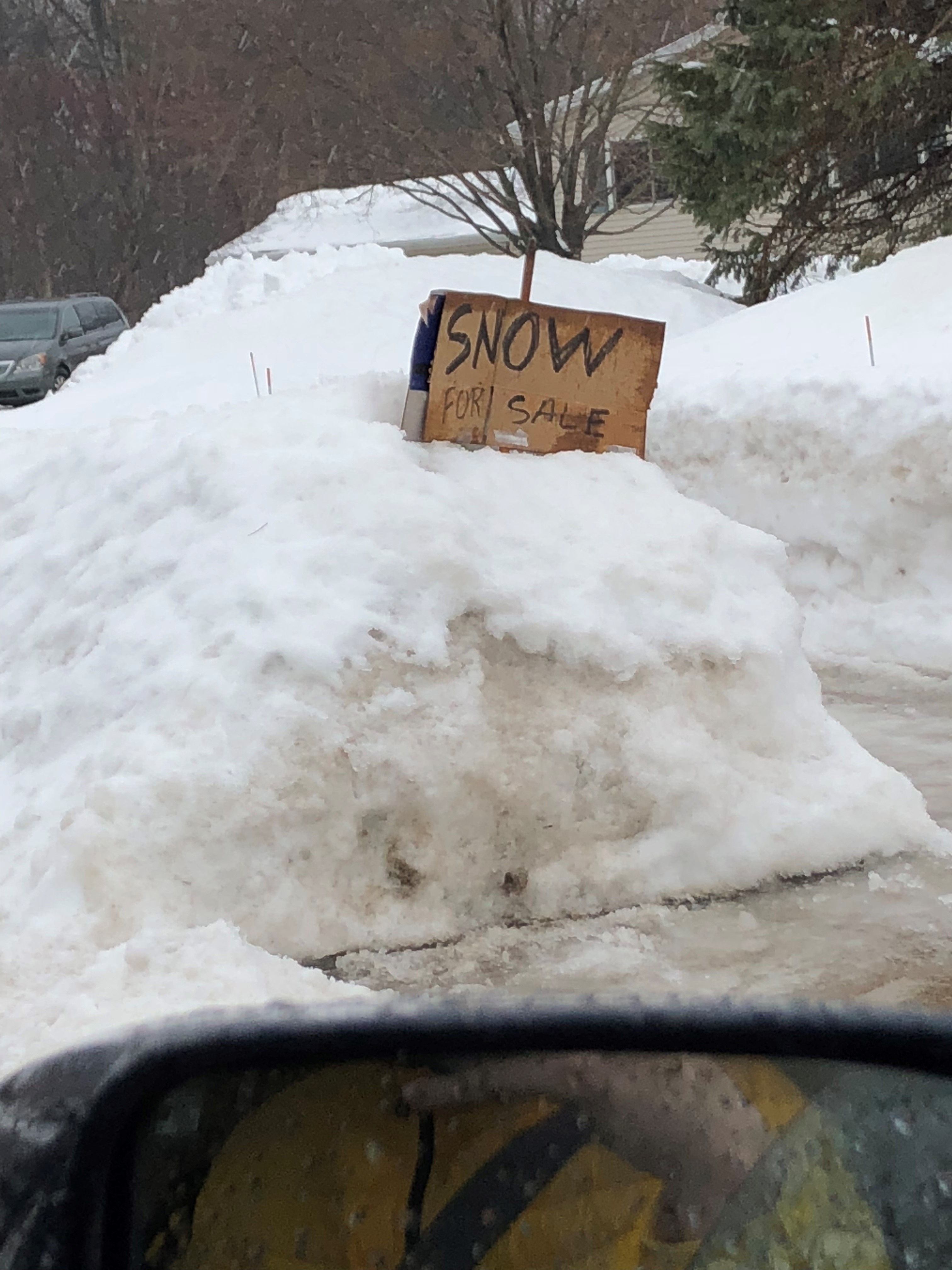 Just for Fun Snow for Sale sign