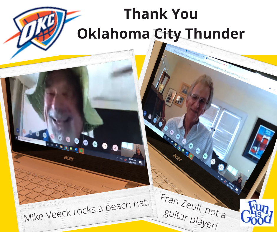 Oklahoma City Thunder, A Big Thank You!