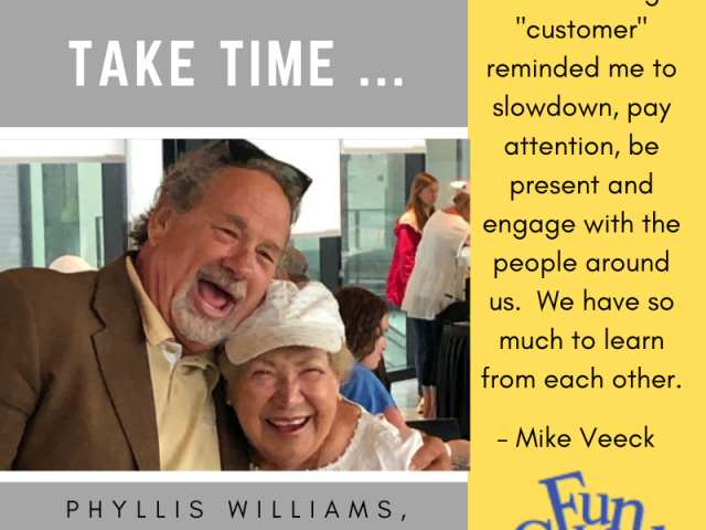 Mike Veeck and Mike's Number One Fan, Phyllis Williams