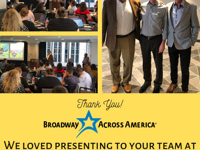 Mike Veeck & Fran Zeuli Presenting to Broadway Across America